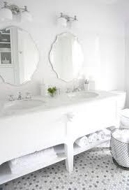 Bathroom Tile Floor Black Hexagonal Tiles On Floor Of White And Black Bathroom