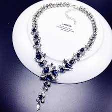 new necklace styles images 2017 new styles fashion jewelry navy blue white crystal shiny jpg