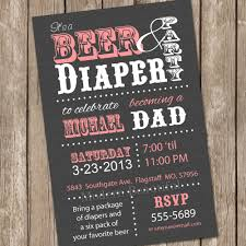 beer and diaper baby shower invitation grey and pink beer and