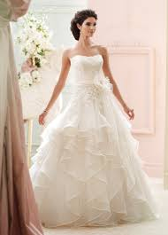 lace ball gown with a ruffled skirt wedding dress 215270 guinevere