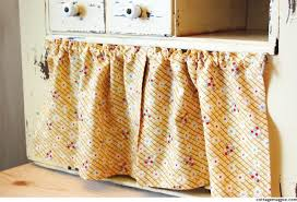 Cottage Kitchen Cupboards - how to hang small cabinet curtains for cheap cottage magpie