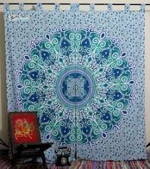 full size coral curtain coral curtains mandala tapestry and