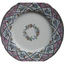 ornate antique english ironstone transferware plate by p b u0026 h