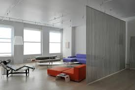 string curtains with track lighting living room modern and loft