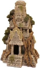 cambodian temple ruin fish cave aquarium terrarium decoration fish