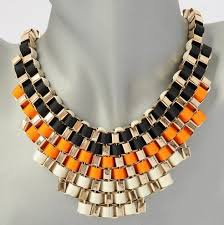 gold orange necklace images Buckle ribbon necklaces for 7 99 great halloween option too jpg