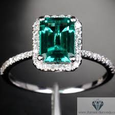 emerald engagement rings images Emerald cut emerald halo pave diamond engagement ring jpg