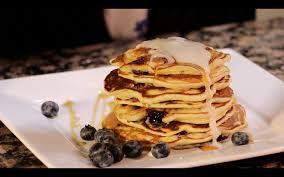 lemon blueberry pancakes with lemon glaze u2013 rookie with a cookie