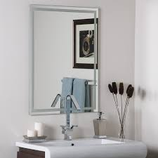 Beveled Mirrors For Bathroom Decor Frameless Etch Mirror Home Kitchen