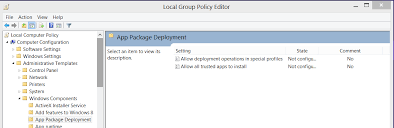 Sans Policy Templates by Sideloading Déployer Une Application Windows Store Sans La