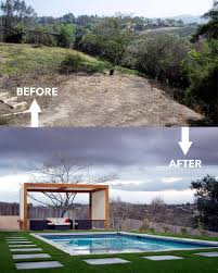backyard renovation during the renovation photo landscape design