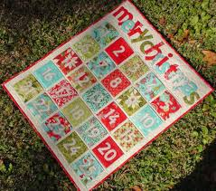 quilted advent calendars to count down to christmas