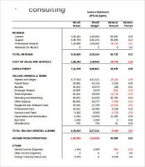Income Statement Excel Template Income Statement Template Excel 7 Free Excel Documents