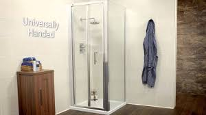 sonas bathrooms k2 range bifold shower door and side panel youtube