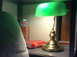 green glass shade bankers l bankers table l green banker s table l green glass shade fia
