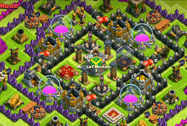image clash of clans xbow a town hall 9 farming base