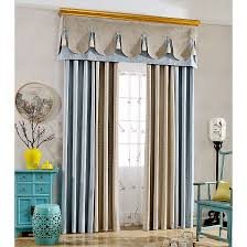 Blue Valance Curtains Blue And Coffee Color Block Embossed Faux Suede Quatrefoil Valance
