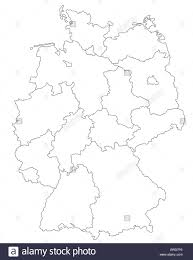 Map Og Germany by A Stylized Map Of Germany Showing All Single States All Isolated