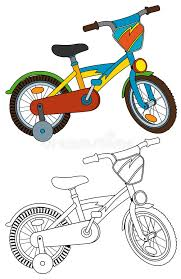 cartoon bicycle coloring page stock illustration image 57014662