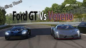 lamborghini veneno advertisement forza motorsport 6 drag race lamborghini veneno vs ford gt 2017