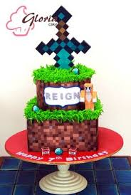 Minecraft Cake Decorating Kit Minecraft Cake With Sword Wooden Heart Cakes Pinterest