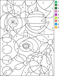 christmas math color number coloring sheets design kids