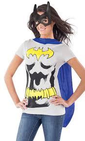 amazon com dc comics batgirl t shirt with cape and mask clothing