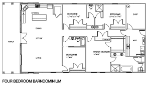 4 Bedroom Floor Plans For A House 30 Barndominium Floor Plans For Different Purpose