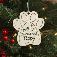puppy u0027s first christmas ornament with pets name first christmas