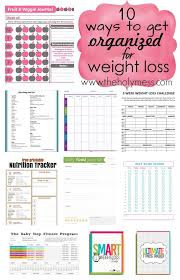 printable weight loss diet chart 10 ways to get organized for weight loss lose 100 pounds