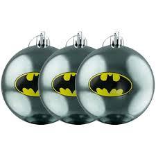 dc comics batman bauble ornaments set of 3 new mint