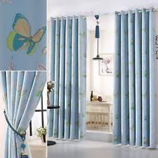 Blue Butterfly Curtains Butterflies Curtains For Children Ebay