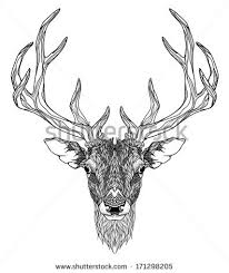 deer head tattoo psychedelic stock vector 171298205 shutterstock