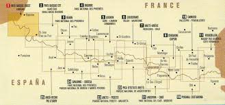 Lourdes France Map by Rando Pyrenees Maps At 1 50 000