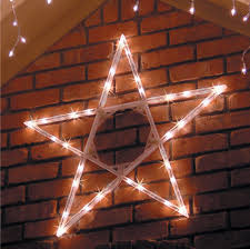 Home Depot Christmas Lawn Decorations Amazon Com 4 U0027 Led Folding Star Decoration 70 Cool White Lights