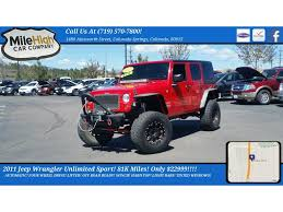 Window Tint Colorado Springs Red Jeep Wrangler In Colorado Springs Co For Sale Used Cars On