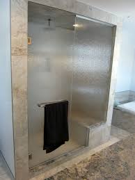 Frosted Frameless Shower Doors by Frameless Glass Shower Door Enclosures With Horizontal Curved