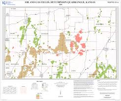 Map Of Lawrence Kansas Kgs 2 Degree Maps Hutchinson Oil And Gas Fields