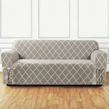 T Cushion Sofa Slipcover by Sure Fit Stretch Stripe Separate Seat T Cushion Sofa Slipcover
