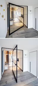 Swing Door Hinges Interior This Glass Pivot Door Has A Unique Central Pivoting Hinge That