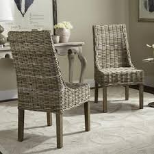 Rattan Dining Room  Kitchen Chairs Shop The Best Deals For Sep - Wicker dining room chairs