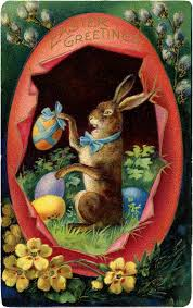 victorian easter bunny with egg image the graphics fairy