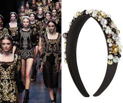 jewelled headband snap up primark s dolce gabbana inspired headband for 4 look