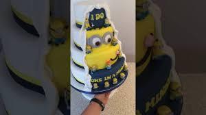 minion wedding cake topper wedding cakes minion wedding cake for the big day wedding