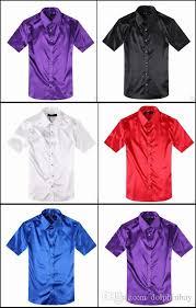new style men dress shirts business silk shiny men u0027s short sleeve