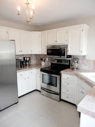 How To Update Kitchen Cabinets Without Painting Livelovediy How To Paint Tile Countertops