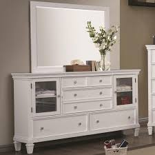 Glass Doors Cabinets by White Wood Dresser Design Featuring White Wooden Drawers And Glass