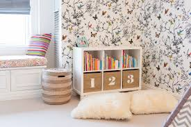 wallpapers in home interiors in the toddler room with lauren behfarin project nursery