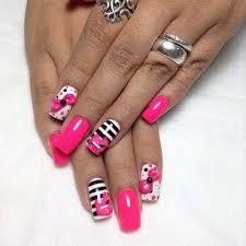wedding nail designs black white pink nail design 2029457