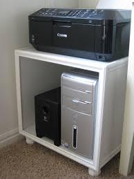 Desk With Printer Storage Tda Decorating And Design Diy Printer Hard Drive Storage Stand